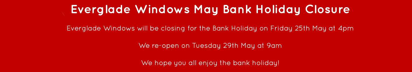 May bank holiday web banner red